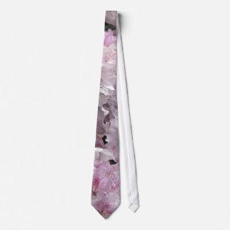 Pink Azaleas, Rhododendron Garden Flowers Tie