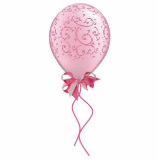 Pink Balloon Sculpture Standing Photo Sculpture