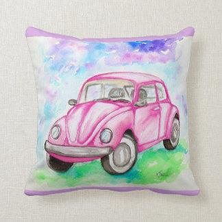 Pink Beetle Cushion