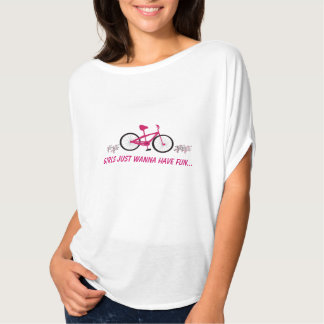 Pink Bicycle with Fun Saying T-Shirt