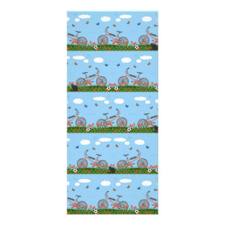 Pink bicycles pattern rack cards