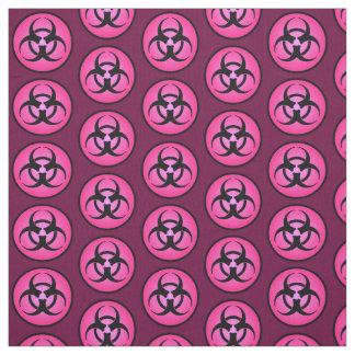 Pink Biohazard Symbol Fabric