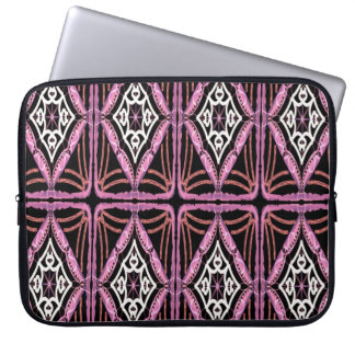 Pink Black and White Design Laptop Sleeve
