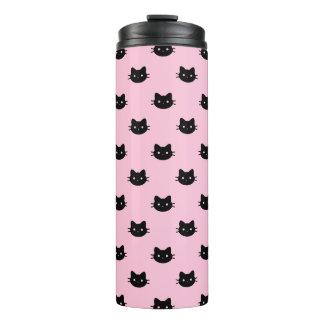 Pink Black Cat Thermal Tumbler