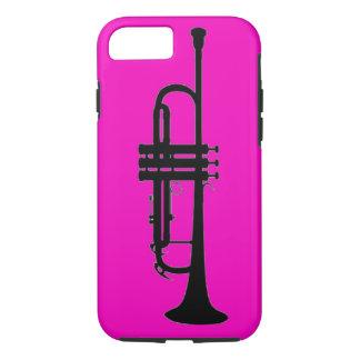 Pink black trumpet silhouette iPhone 8/7 case