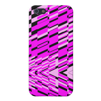 Pink Black Wave Shatter iPhone 4 Case