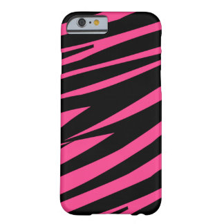 Pink black zebra stripe fun stylish iPhone 6 case Barely There iPhone 6 Case