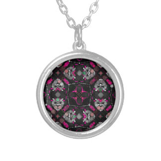 Pink Blk Girly Personalized Necklace