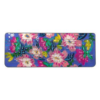 Pink Blooms Wireless Keyboard