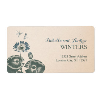 Pink Blossom save the date Shipping Label