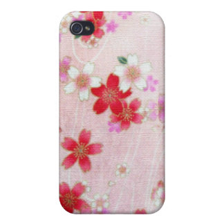 PINK BLOSSOMS KIMONO PRINT CASES FOR iPhone 4