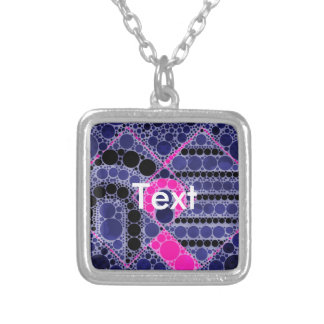 Pink Blue Abstract Custom Necklace