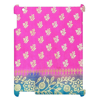 Pink Blue and Gold Floral iPad Cover