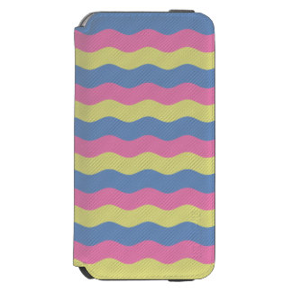 Pink, blue and yellow waves incipio watson™ iPhone 6 wallet case