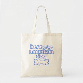 Pink & Blue Bernese Mountain Dog Tote Bag