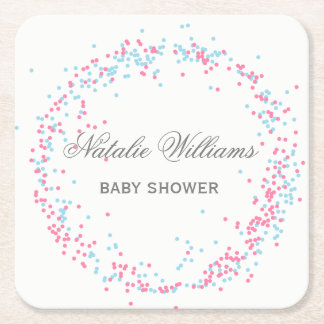 Pink & Blue Confetti - Custom Coaster