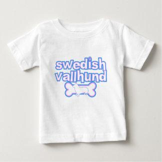 Pink & Blue Swedish Vallhund Baby T-Shirt