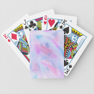 Pink Blue Texture Bicycle Playing Cards
