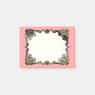 Pink Boho Floral Bohemian Celtic Knot Post-it Notes