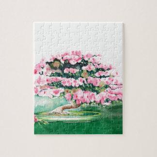 Pink Bonsai Jigsaw Puzzle