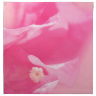 Pink Bougainvillea Leaves and Flower Close-up Napkin