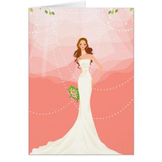 Pink Bridal Shower Invitation Greeting Card