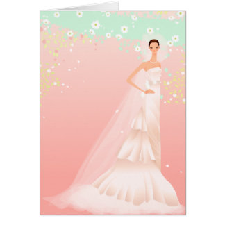 Pink Bridal Shower Invitation Greeting Cards