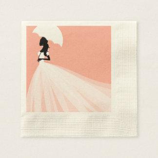 Pink Bridal Shower Paper Napkin