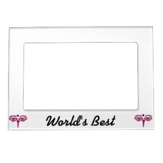 Pink Buddha Eyes.png Magnetic Picture Frames