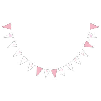 Pink Bunny It's A Girl Baby Shower Bunting