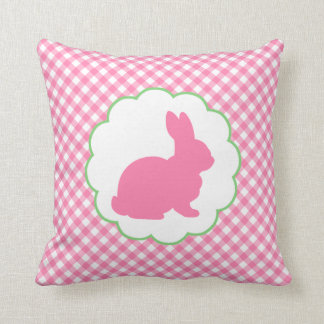 Pink Bunny Silhouette Cushion