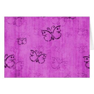 Pink Butterflies Note Card