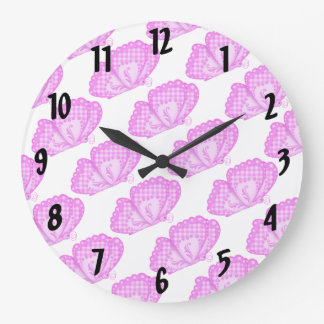 Pink Butterflies Wallclocks
