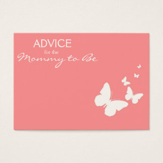 Pink Butterfly Advice for the Mommy to Be Cards