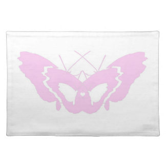 pink butterfly love silhouette placemat
