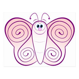 Pink Butterfly Postcard