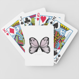 Pink Butterfly Rose Marsh Maid Bicycle Playing Cards