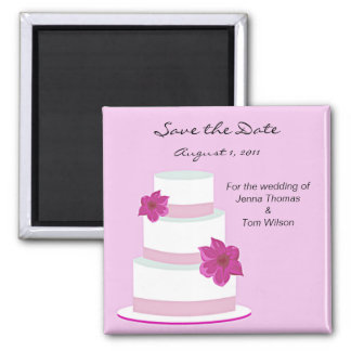 Pink Cake Save the Date Magnet