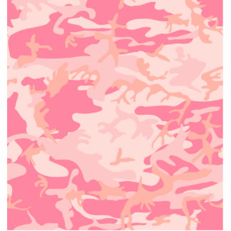 Pink Camo - Girly Camo Standing Photo Sculpture