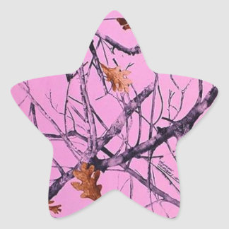 Pink Camo Star Sticker