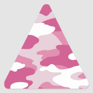 Pink Camo Triangle Sticker