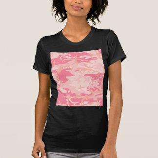 Pink camouflage design shirts