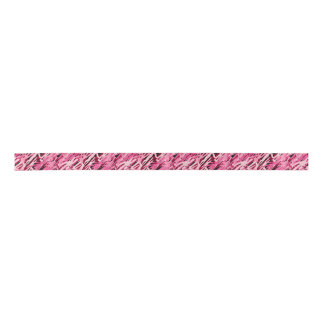 Pink Camouflage Ribbon Satin Ribbon