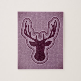 Pink Canvas Glowing Deer Jigsaw Puzzle