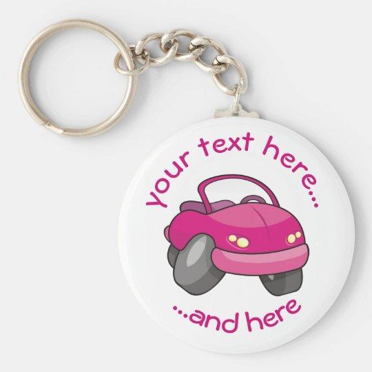 Pink Cartoon Car Key Ring