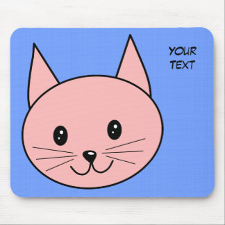 Pink Cat Mouse Pad