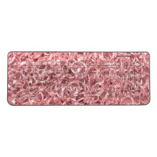 Pink Chain Links Photo 0284 Wireless Keyboard
