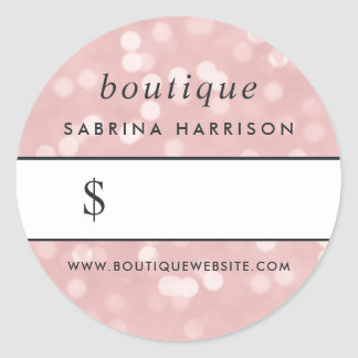 Pink Champagne Bokeh | Boutique Price Sticker
