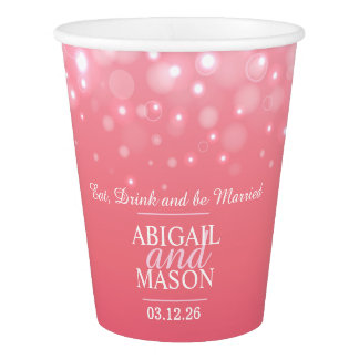 Pink champagne custom wedding cups