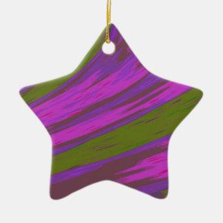 Pink chartreuse Color Swish Christmas Ornament